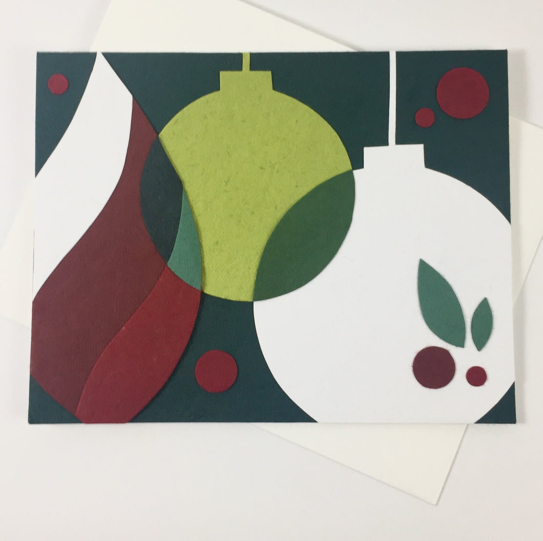 Contemporary Ornaments - Handmade Card
