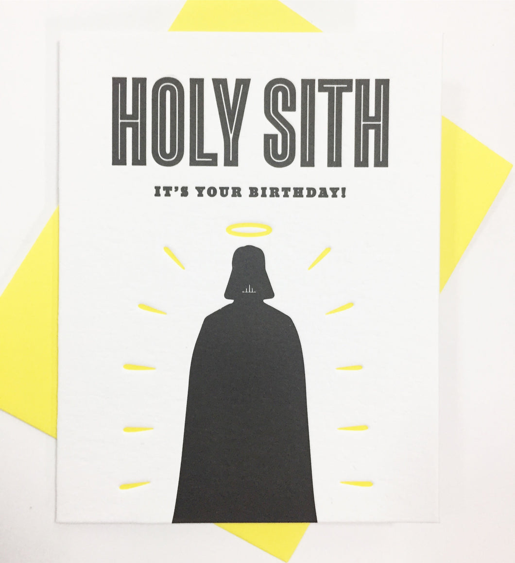Holy Sith - Letterpress Card