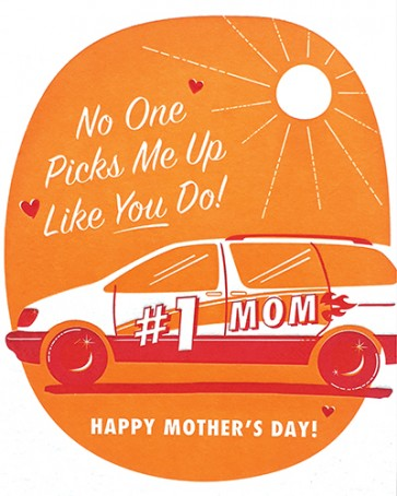 Pick Me Up Mom - Letterpress Card