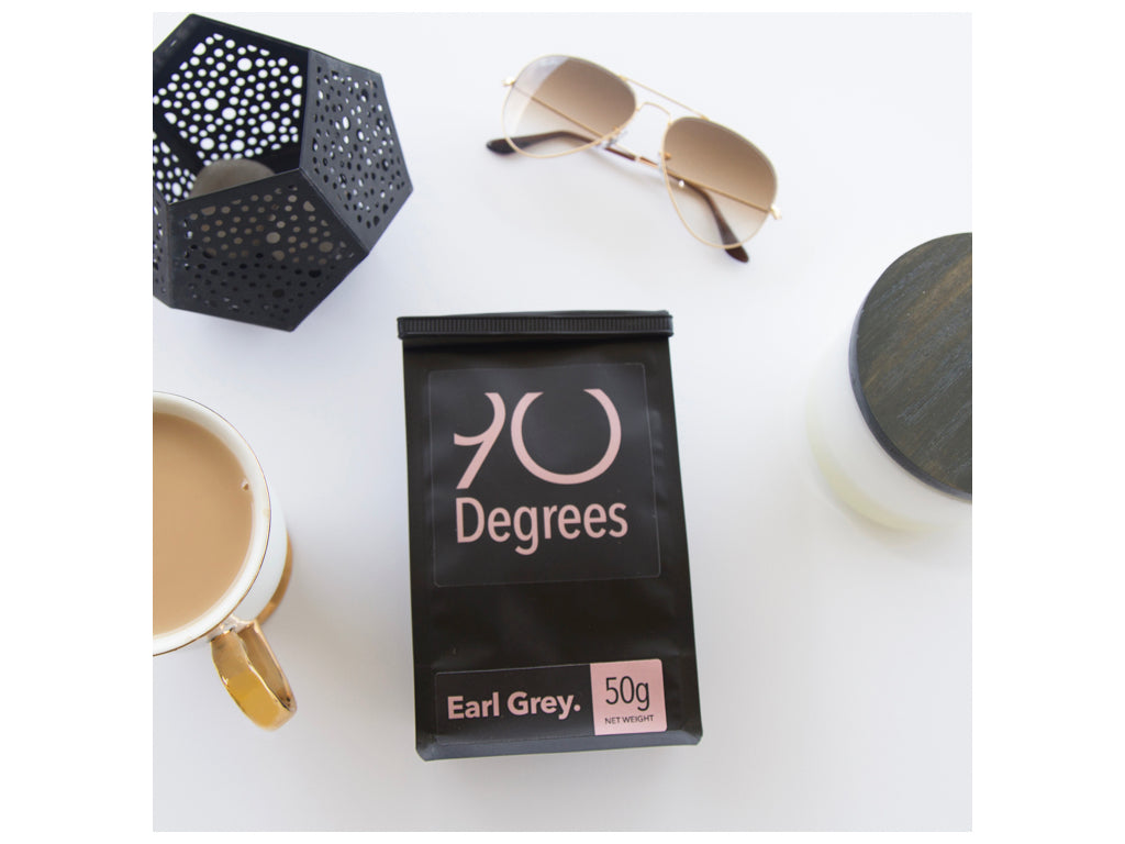 EARL GREY - classic blend with organic bergamot pieces - 90degrees tea