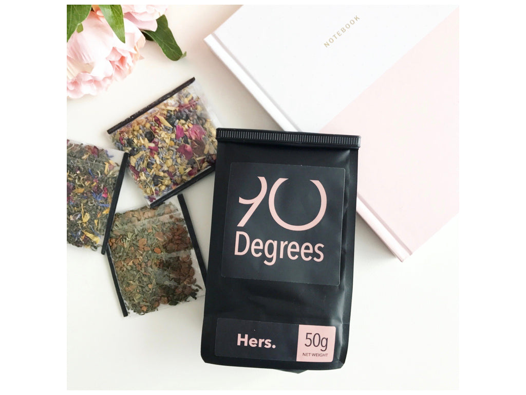 HERS - herbal blend including hibiscus and raspberry leaf