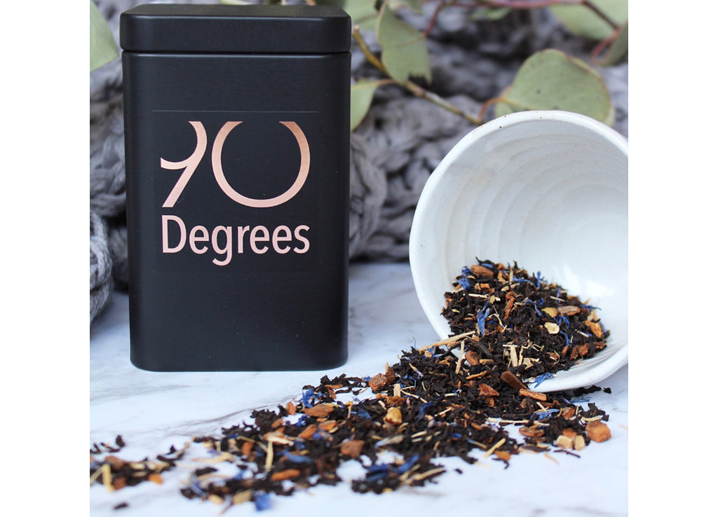 HIS - english breakfast blend including ginseng & saw palmetto - 90degrees tea
