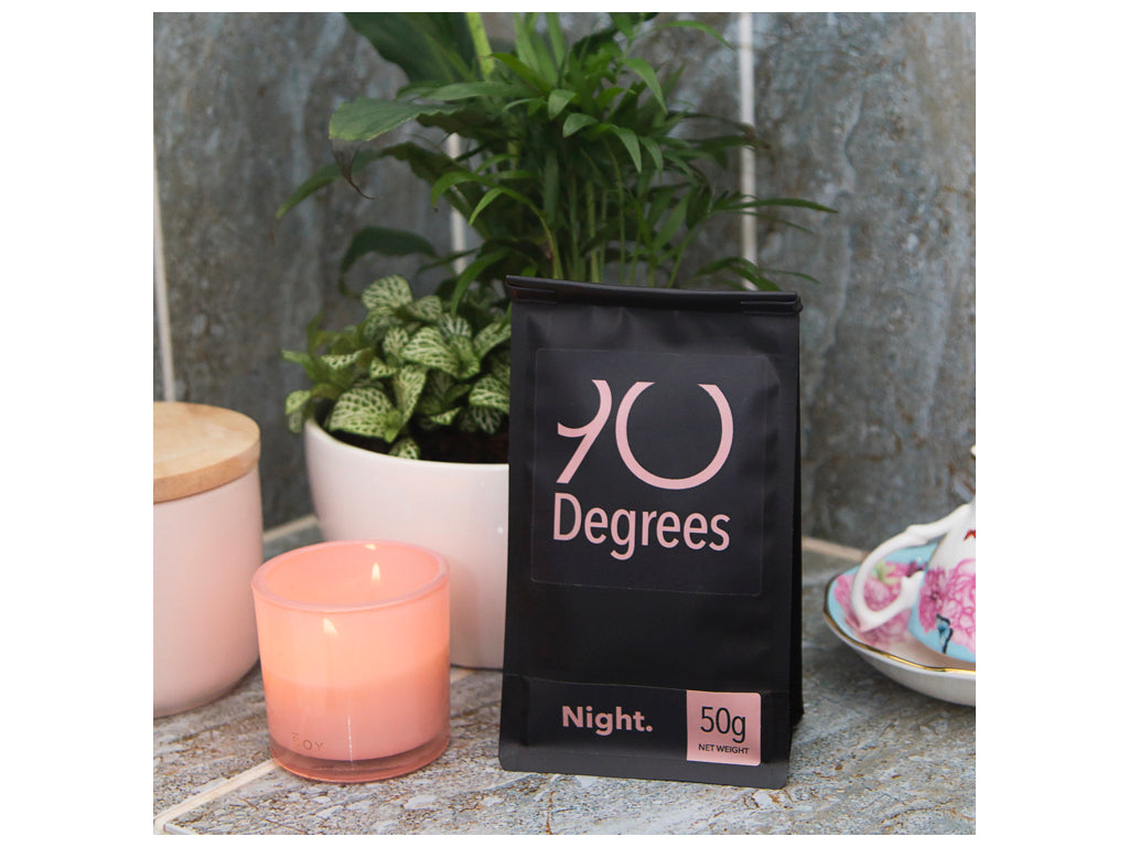 NIGHT - subtle and floral organic herbal blend - 90degrees tea