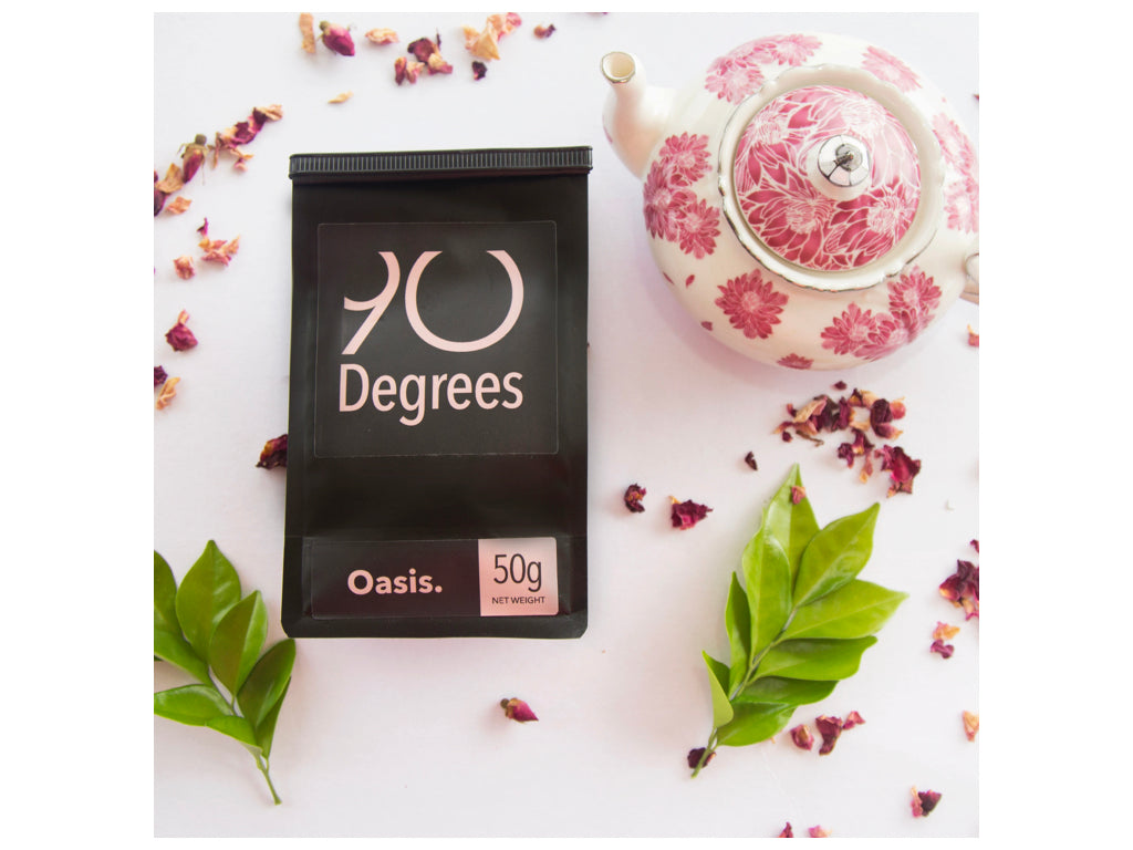 OASIS - organic green tea with flowers - 90degrees tea