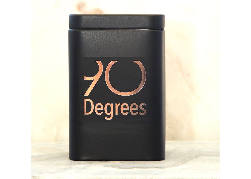 Tea storage tin - 90degrees tea