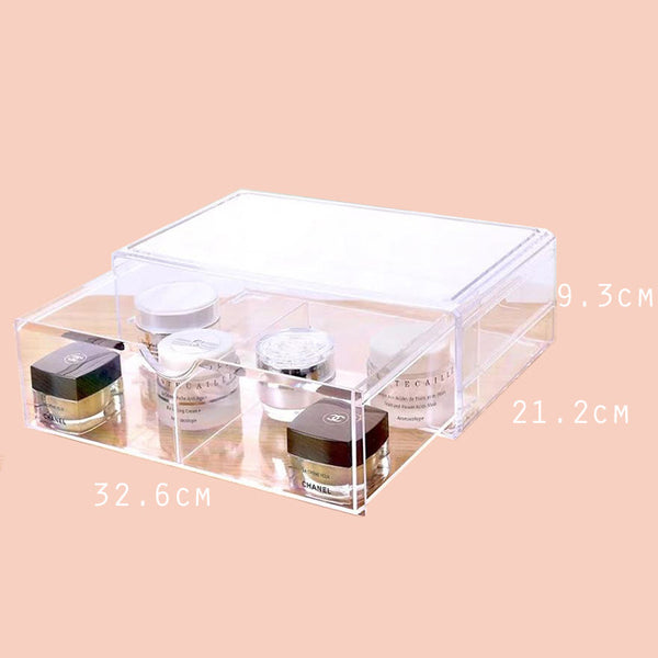 Acrylic makeup organizer box for makeup storage, never lose your items again.