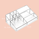Acrylic makeup organizer for makeup storage, available in Singapore! never lose your items again.
