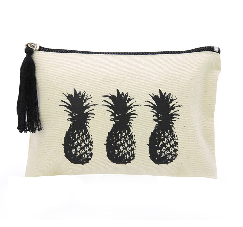 Pineapple Printed Canvas Bag