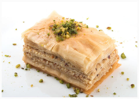 Authentic Baklava Tray, 55-Pieces