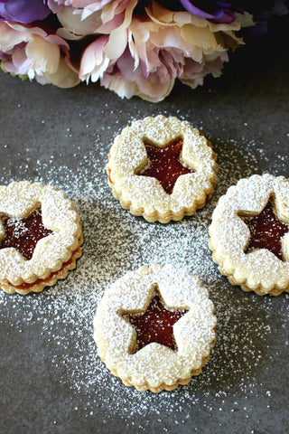 Star Sablé Cookies filled with Marmalade, 12-Pieces