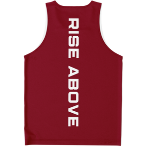 Load image into Gallery viewer, RISE ABOVE PERFORMANCE TANK - BURGUNDY