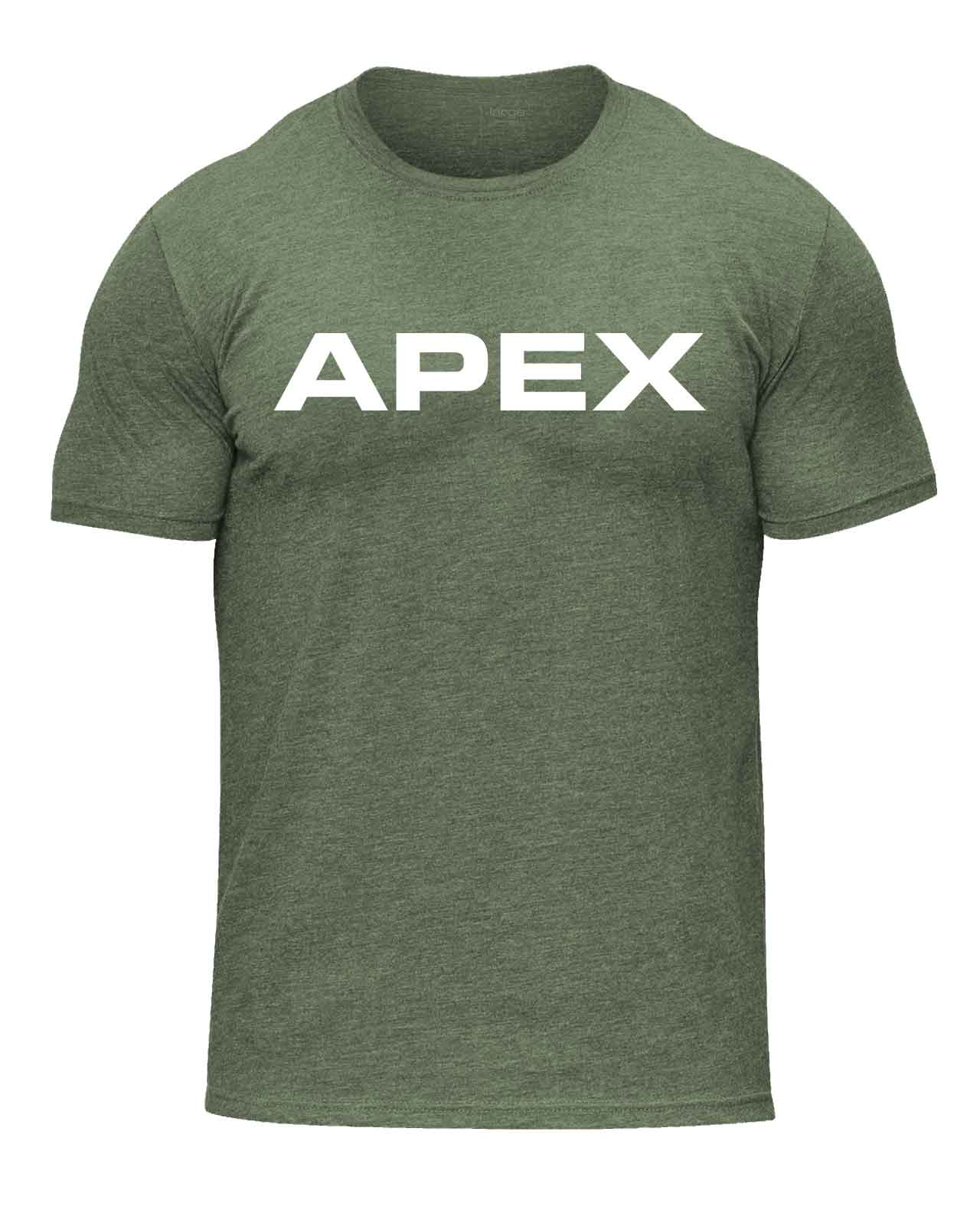 SIGNATURE TEE - MILITARY GREEN - Apex Fitness Co.