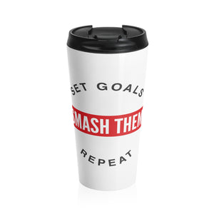 Load image into Gallery viewer, Stainless Steel Travel Mug - Set Goals - Apex Fitness Co.