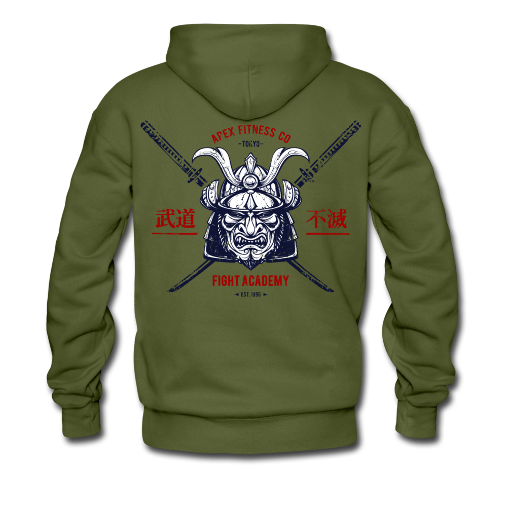 APEX FIGHT ACADEMY HOODIE - MILITARY GREEN - olive green
