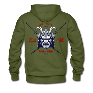Load image into Gallery viewer, APEX FIGHT ACADEMY HOODIE - MILITARY GREEN - olive green