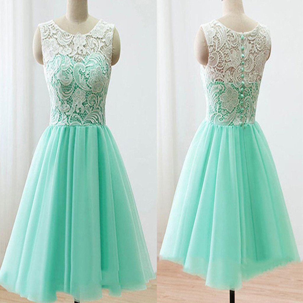 2017 mint lace lovely simple elegant homecoming prom bridesmaid dress,BD0028