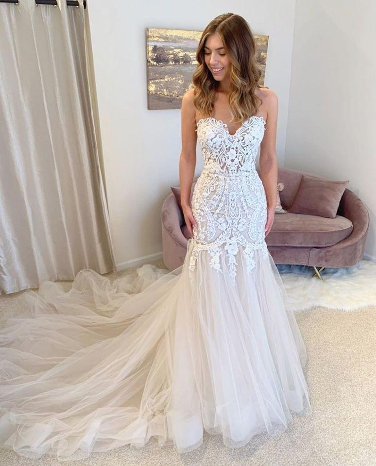 Affordable Sweetheart Mermaid Wedding Dresses Online, Cheap Wedding Gown, WD663