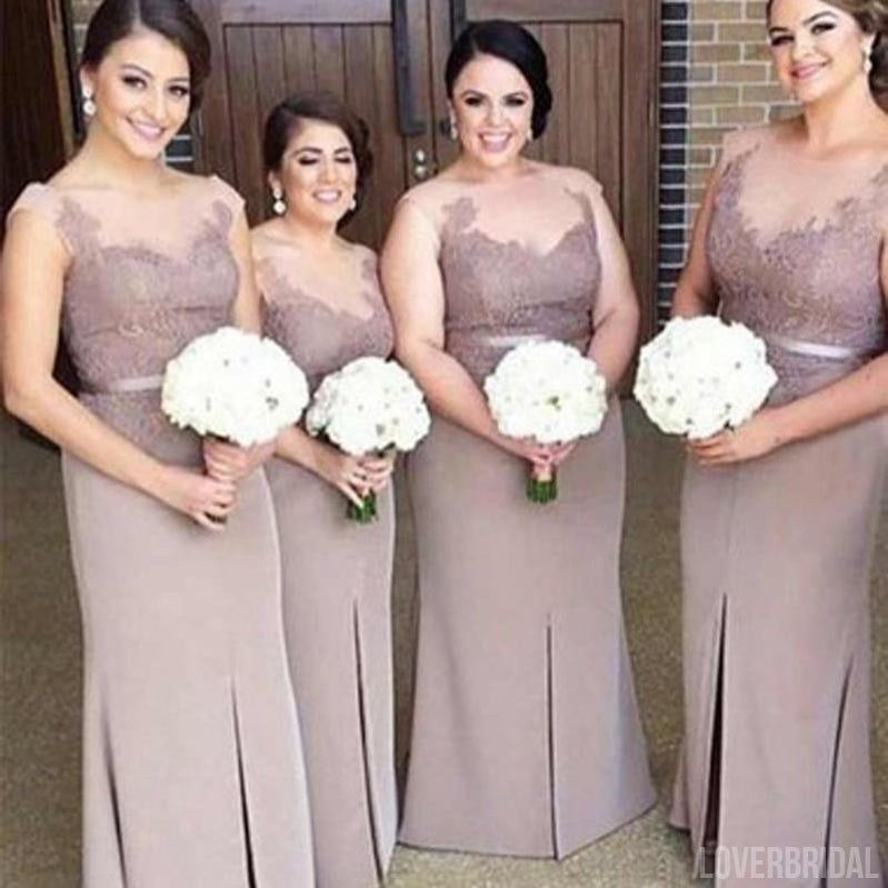 Beautiful Mismatched Short Tulle Cheap Long Wedding Bridesmaid Dresses, WG358