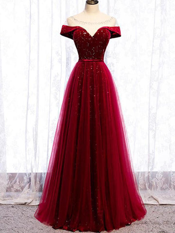 products/cap-sleeve-red-sparkly-tulle-long-cheap-evening-prom-dresses-evening-party-prom-dresses-12329-13710355365975.jpg