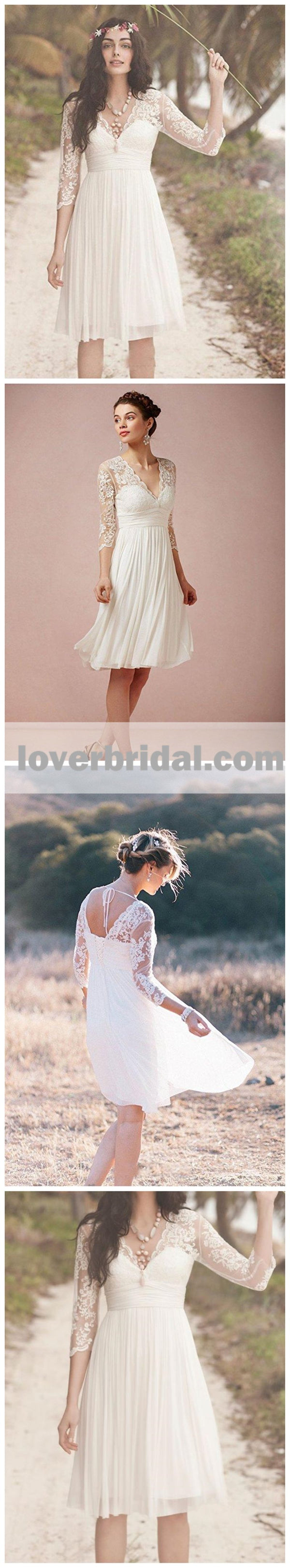 Cheap Long Sleeve Lace Short Beach Wedding Dresses Wd330 Loverbridal,Nice Dress For Wedding Party