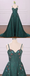 Emerald Green Spaghetti Straps Cheap Long Evening Prom Dresses, Cheap Custom Sweet 16 Dresses, 18526
