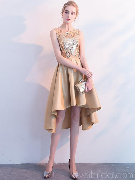 Gold Sparkly Sequin Cheap Homecoming Dresses Online, Cheap Short Prom Dresses, CM799