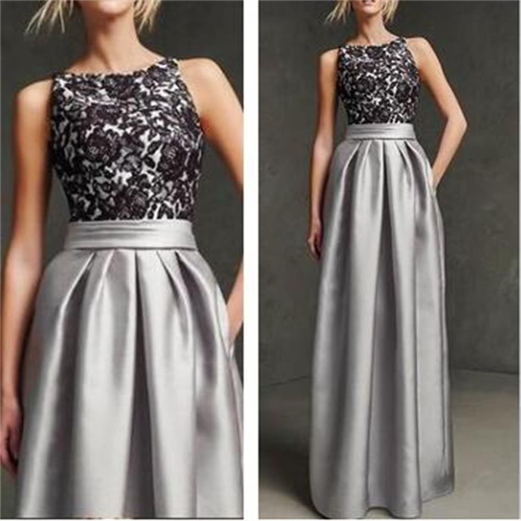 Gray Prom Dresses, Long Prom Dresses,Sleeveless Prom Dresses, Simple Prom Dresses,Black Lace Prom Dresses, Elegant Prom Dresses,Unique Pretty Prom Dresses,Prom Dresses Online,PD0121