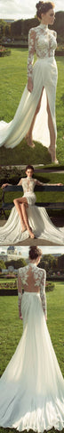 products/ivory-high-neck-long-sleeves-see-through-applique-side-split-sexy-long-prom-dresses-wedding-dress-wg265-16906031753.jpg