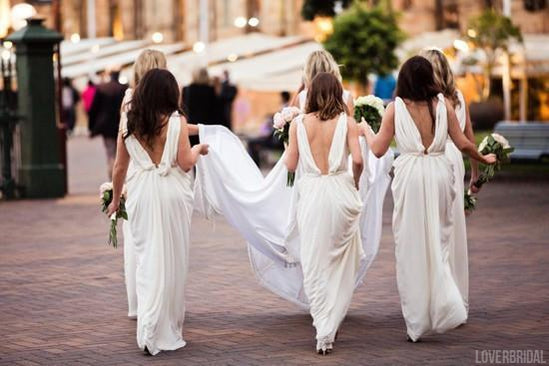 Ivory Sexy Deep V Neck Floor Length V Back Charming Wedding Bridesmaid Dresses, WG338