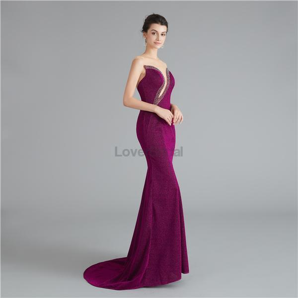 Jewel Sexy Beaded Mermaid Evening Prom Dresses, Evening Party Prom Dresses, 12117