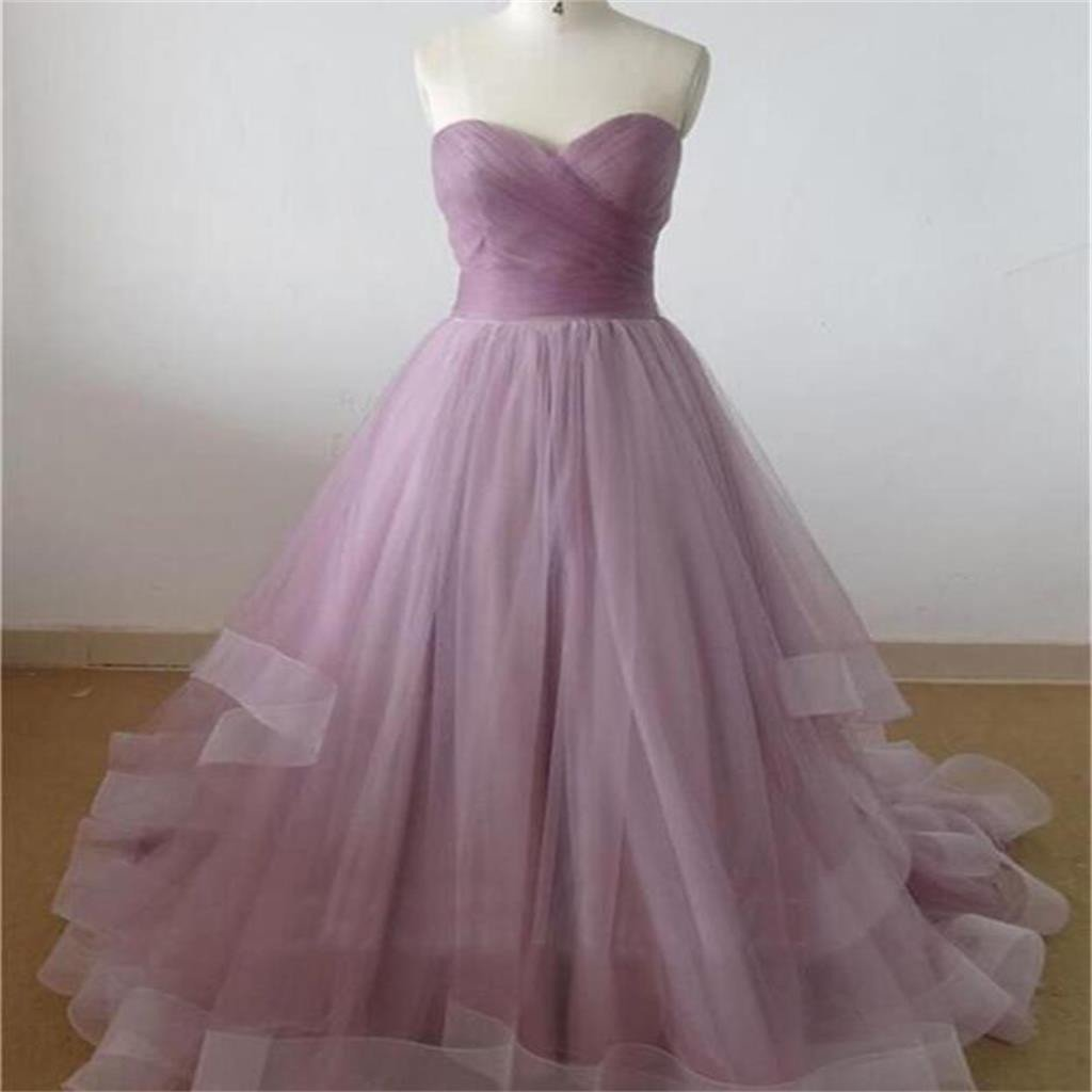 Lilac Prom Dress,Sweetheart Prom Dress,A-line Dress ,Cheap Prom Dress,Party Prom Dresses ,Evening Dresses,Long Organza Prom Dress,Prom Dresses Online,PD0125
