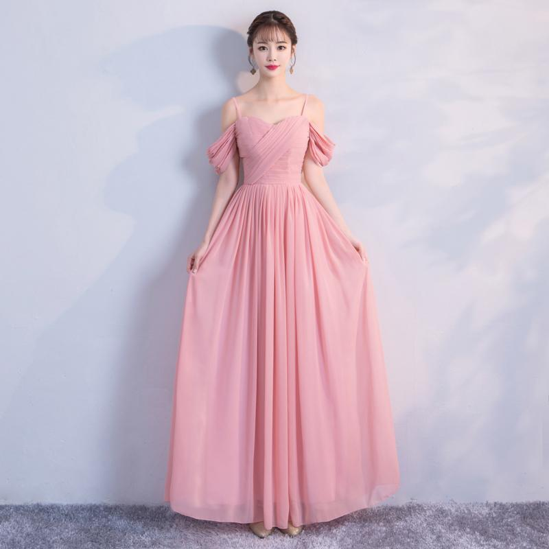 Mismatched Pink Chiffon Cheap Bridesmaid Dresses Online,WG755