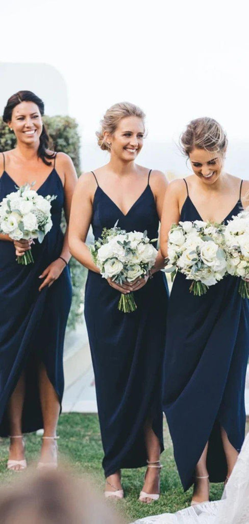 Navy Blue Cheap Short Simple Bridesmaid Dresses Online, Cheap Bridesmaids Dresses, WG724