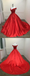 Off Shoulder Bright Red Long Evening Prom Dresses, Cheap Custom Sweet 16 Dresses, 18515