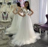 Scoop Lace A-line Cheap Wedding Dresses Online, Cheap Bridal Dresses, WD653