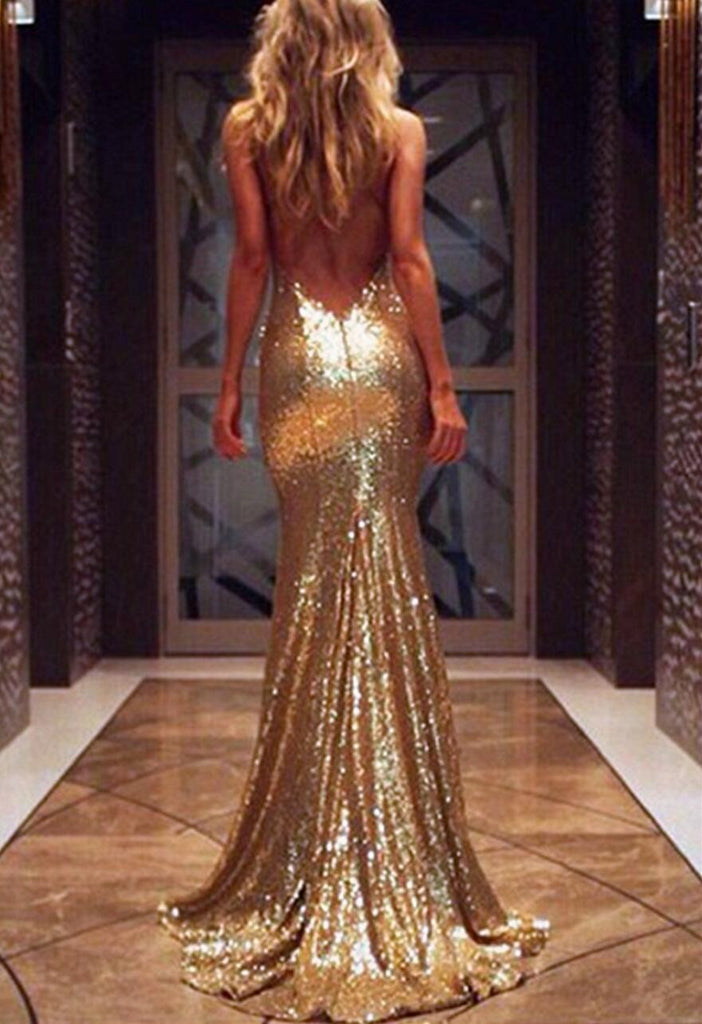 Sexy Backless Mermaid Sparkly Green Sequin Long Evening Prom Dresses, Popular Cheap Long 2018 Party Prom Dresses, 17298