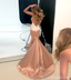 Sexy Rose Gold Mermaid Long Evening Prom Dresses, Cheap Custom Party Prom Dresses, 18573