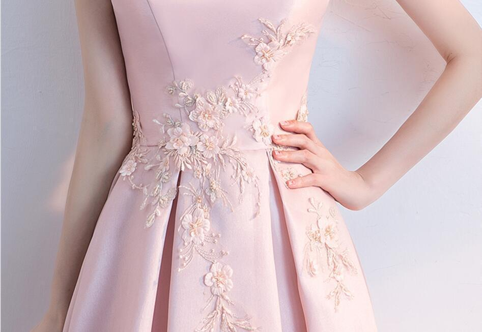 Simple Cap Sleeve Blush Pink Cheap Homecoming Dresses Online, CM698