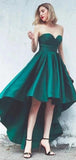 Simple Emerald Green High Low Simple Cheap Short Homecoming Dresses Online, Cheap Short Prom Dresses, CM829