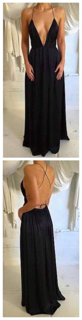 Spaghetti Straps Prom Dress,Sexy Prom Dress,Simple Prom Dress ,Backless Prom Dress,Custom Prom Dresses ,Evening Dresses, Prom Dresses,Long Prom Dress, Party Prom Dress,PD0060