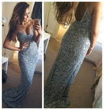 Spaghetti Straps Prom Dresses,Sexy Prom Dresses,Mermaid Prom Dress ,Open Back Prom Dress,Custom Prom Dresses ,Evening dresses, Prom Dresses,Long Prom Dress,Party Prom Dress,PD0057