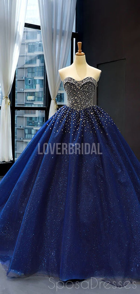 Sparkly Sweetheart Beaded Long Evening Prom Dresses, Evening Party Prom Dresses, 12257