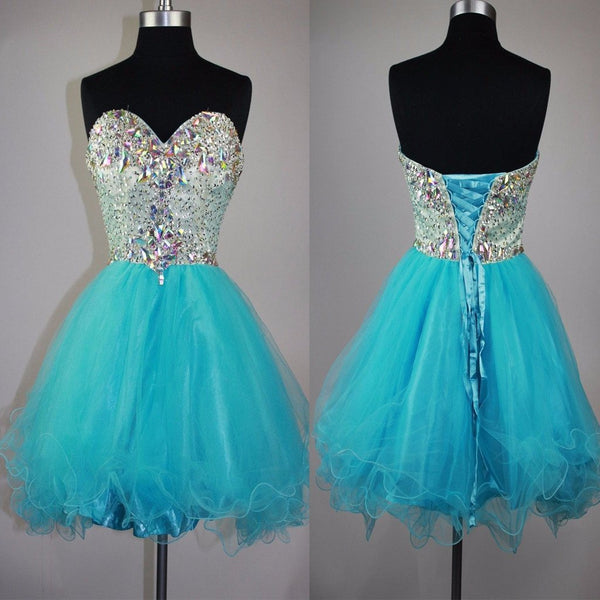 Strapless sweetheart mismatched sparkly mini cute for teens cocktail homecoming prom gowns dress,BD0082