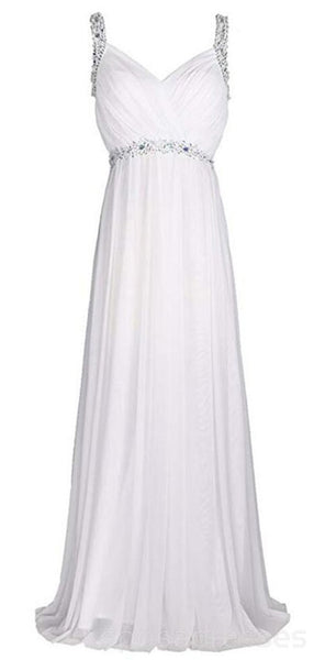 Straps Beaded Cheap Beach Wedding Dresses Online, Cheap Beach Bridal Dresses, WD467