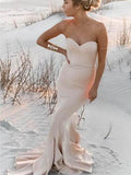 Sweetheart Mermaid Simple Sexy Long Wedding Bridesmaid Prom Dresses, WG366