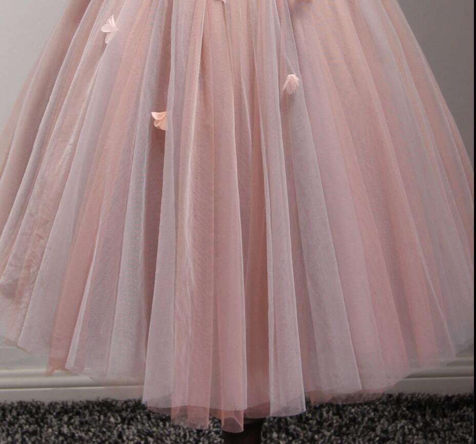 Two Strapless V Neckline Blush Pink Beaded Homecoming Prom Dresses, Affordable Short Party Corset Back Prom Dresses, Perfect Homecoming Dresses, CM226