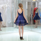 Two Straps Royal Blue Simple Cheap Homecoming Dresses Online, Cheap Short Prom Dresses, CM809