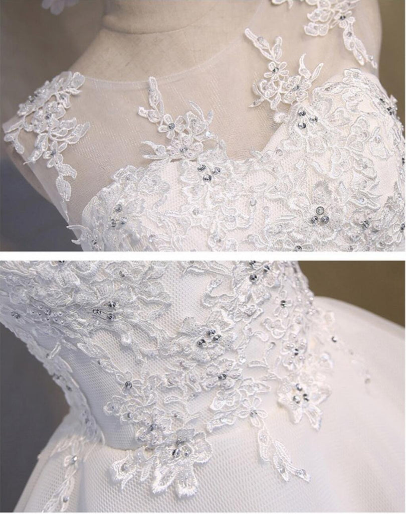 White Lace Open Back Sexy Homecoming Prom Dresses, Affordable Short Party Prom Dresses, Perfect Homecoming Dresses, CM281