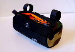 ABCSF Handlebar Bag-  Black and Camo with Orange liner