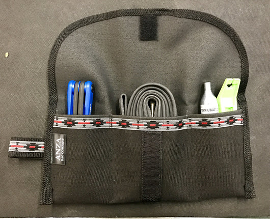 ABCSF Tool roll- Black with  Southwest trim